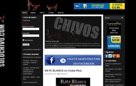 Diseño Web Hosting - SoloCHIVO.com